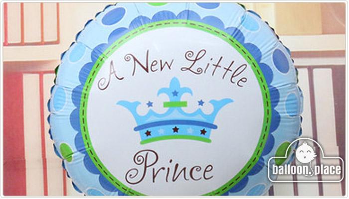 嬰兒 系列氫氣球 藍色皇冠