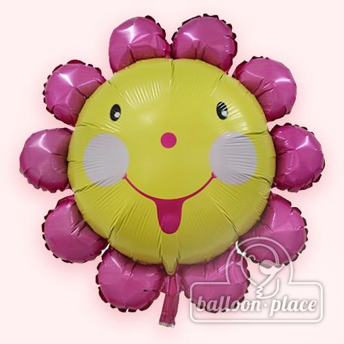 """笑哈哈花 24""""  宽:  43cm  高:  40cm  氢气球尺寸: 32寸 分类: 可爱"""