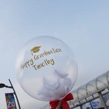 畢業禮物— 水晶氣球